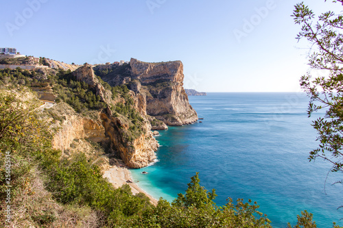 Moraig cove beach in Benitatxell, Alicante, Spain Fotobehang