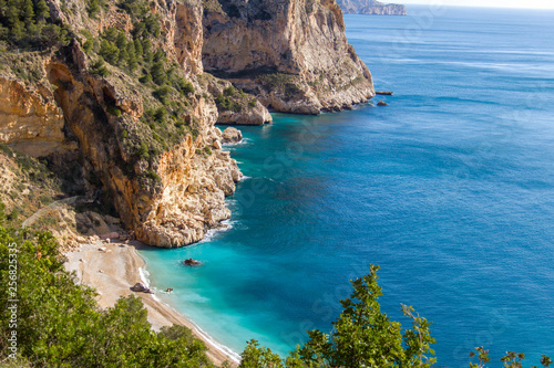 Canvas Moraig cove beach in Benitatxell, Alicante, Spain