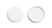 Blank White Plastic Frisbee Mo...