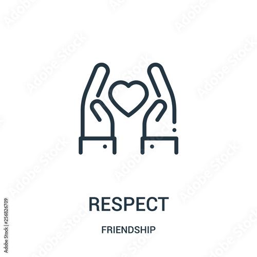 Obraz na plátně respect icon vector from friendship collection