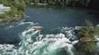 River Tree Riverstones Riverbed Aerial Luftaufnahme 4K