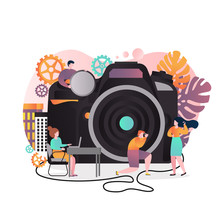 Photography Vector Concept For Web Banner, Website Page