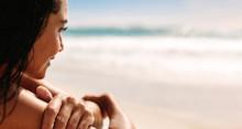 Woman Admiring The Ocean View