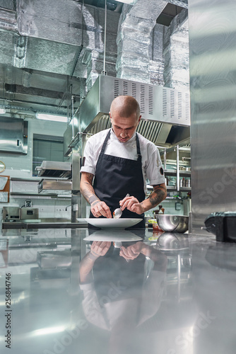 Working in a restaurant Canvas Print