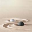 canvas print picture - zen garden meditation stone