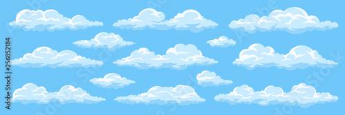 Fotomural Set of cartoon clouds