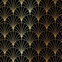 Art Deco Gold Palm, Palmette P...