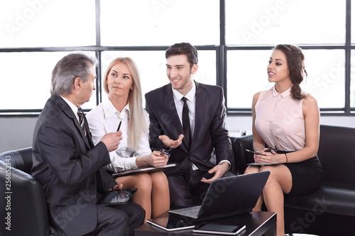Fotografie, Obraz  business partners at an informal meeting