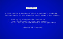 Blue Screen Of Death. Operatin...