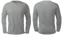 Gray Long Sleeved Shirt Design...