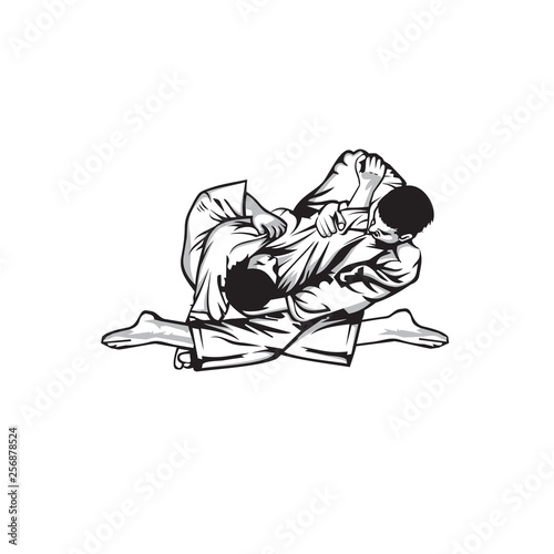 Foto  jiu jitsu logo vector