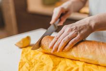 Home Making Sandwiches With Avocado - Italian Traditional Bruschetta - Healthy Organic Food