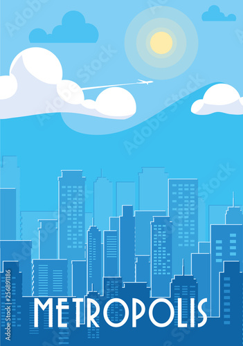 Foto metropolis cityscape buildings scene