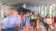 4k, Time lapse Walking way Business District of bangkok Asia Thailand