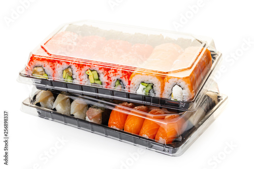 sushi set in a package Wallpaper Mural