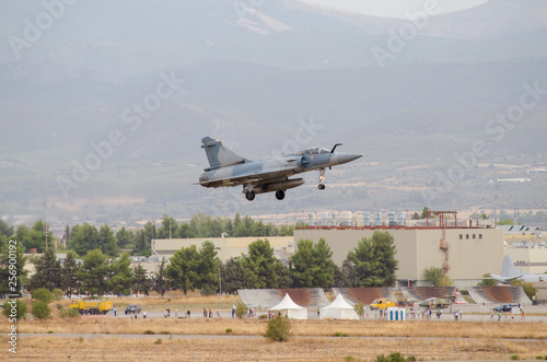 Photo Delta wing fighter landing airbase