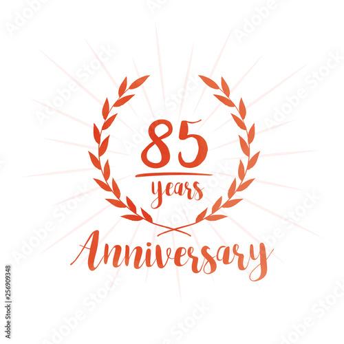 Fotografia  85 years anniversary celebration logo