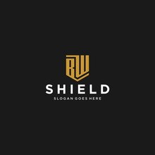 Bw Letter Shield Icon