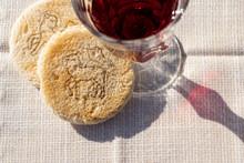 Tradition Kirche Glaube Religion Abendmahl Jesus Brot Und Wein