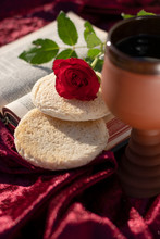 Kirche Christlich Abendmahl Gottesdienst Brot Und Wein