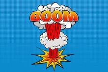 Boom Comic Explosion  Lettering Symbol