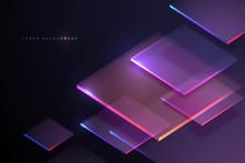 Abstract Neon Light Geometry B...