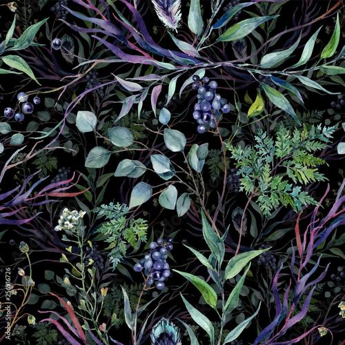 akwarela-botaniczny-greneery-wzor