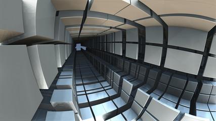 Wygenerowane komputerowo abstrakcyjne tło geometryczne 3D