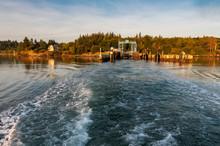 Ferryboat Leaving The Lummi Is...