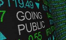 Going Public Stock Market Initial Offering IPO 3d Illustration