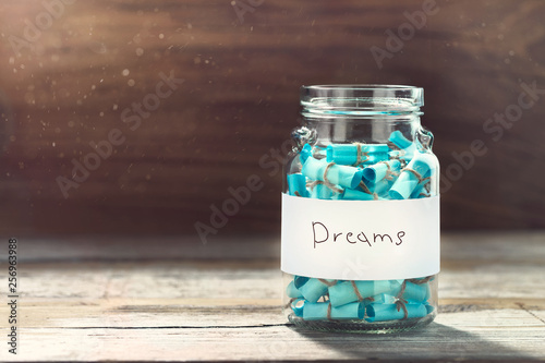 Fotomural Dream concept Full glass jar cherished wishes