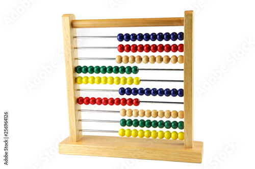Photo colorful abacus for kids early education