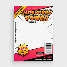 Superhero Comic Magazine Front Cover Page Design