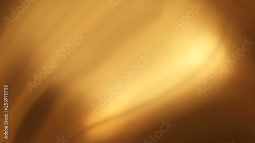 Abstract golden liquid smooth background with waves luxury. 3d illustration - 256970750