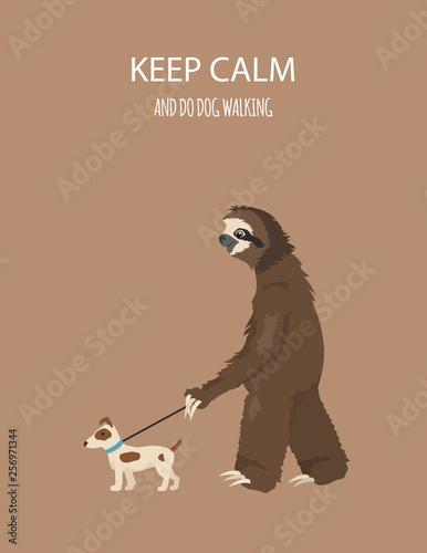 Obraz na plátně The story of one sloth