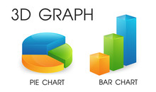 3D Pie And Bar Chart That Look...