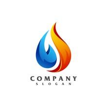 Liquid Fire Logo Vector