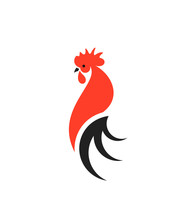 Red Rooster With Black Tail. L...