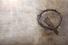Jesus Crown Thorns And Nails O...