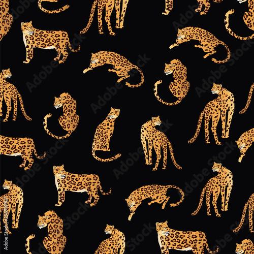Fotomural leopard pattern illustration
