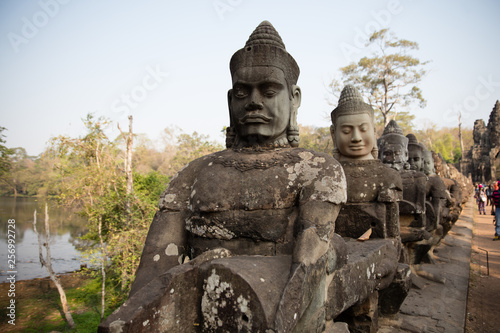 templo camboya Canvas Print