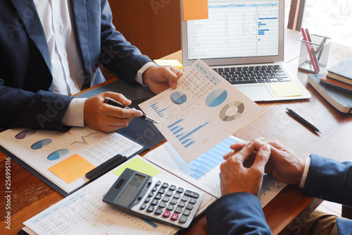 Fototapeta business consulting businessman meeting brainstorming report project analyze . obraz na płótnie
