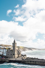 Porthleven - Cornwall UK - Landscape Of Loe Bar And Pier