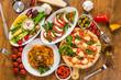 canvas print picture - イタリア料理 Italian food like pizza