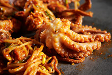 Korea Spicy Stir Fried Octopus And Crab