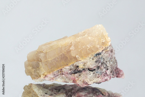 Crystal of major industrial lithium ore spodumene Wallpaper Mural