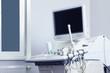 Modern ultrasound machine in office. Diagnostic technique