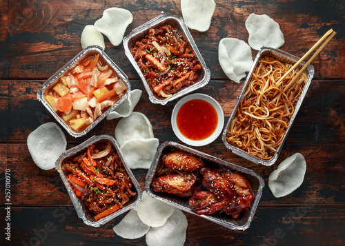 Fotografie, Obraz Chinese takeaway food