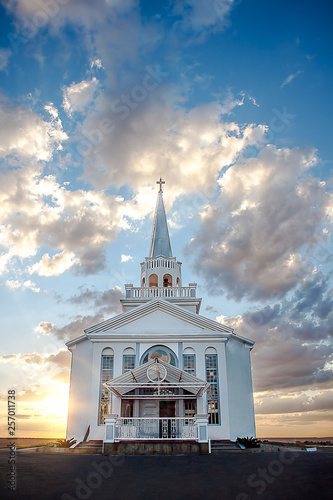 Valokuvatapetti Church at sunset