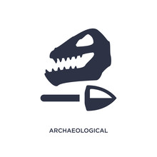 Archaeological Icon On White Background. Simple Element Illustration From History Concept.